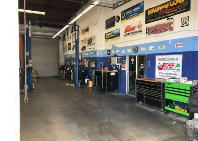 Inside the shop at Advantage Automotive